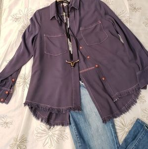 La Ju LA long sleeve button down shirt EUC M